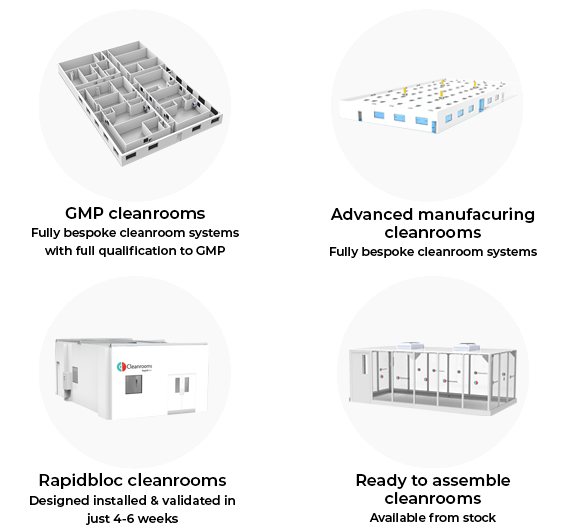 Graphic of our cleanroom range