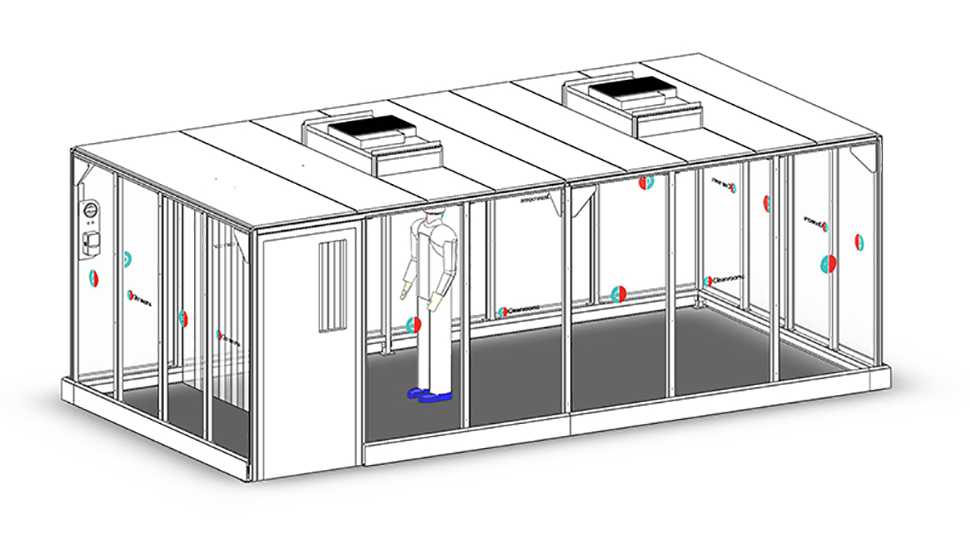 Hardwall cleanroom for production