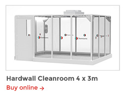 Rapid Room Cleanroom Kits - CR4 Hardwall Cleanroom 4x3m
