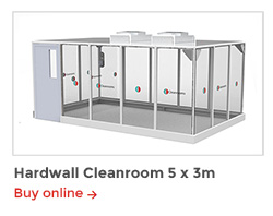 Rapid Room Cleanroom Kits - CR5 Hardwall Cleanroom 5x3m