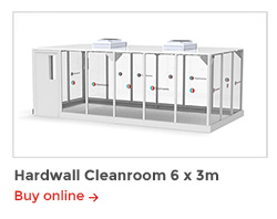 Rapid Room Cleanroom Kits - CR6 Hardwall Cleanroom 6x3m