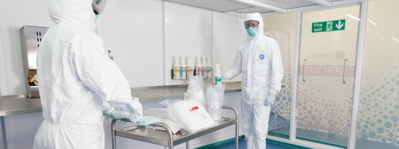 Working in a cleanroom