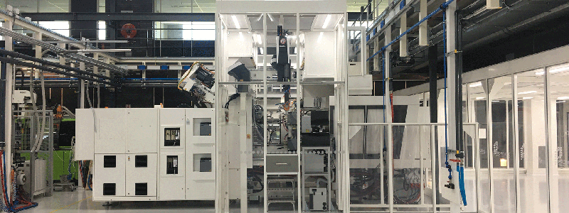 HEPA-lite smart cleanroom for injection moulding