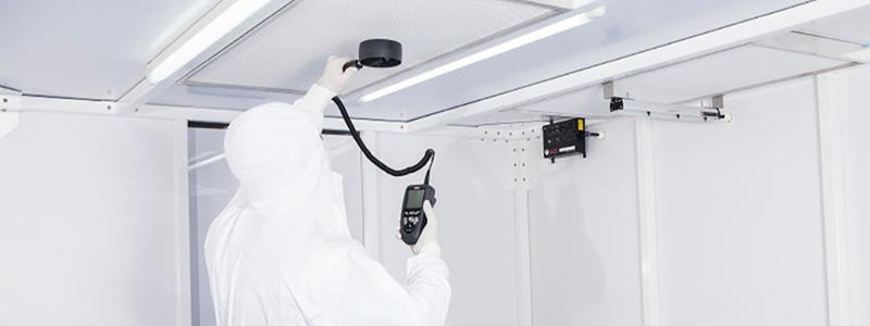 DOP HEPA Filter Testing in Cleanroom